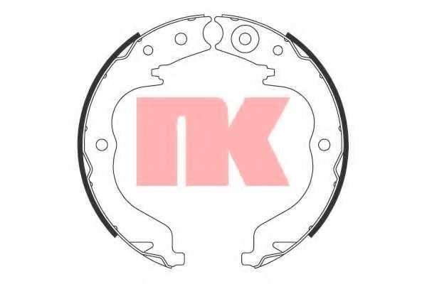 Комплект колодок стояночной тормозной системы NK 2719757 - изображение