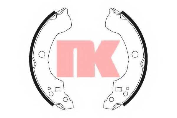 Комплект тормозных колодок NK 2722694 - изображение