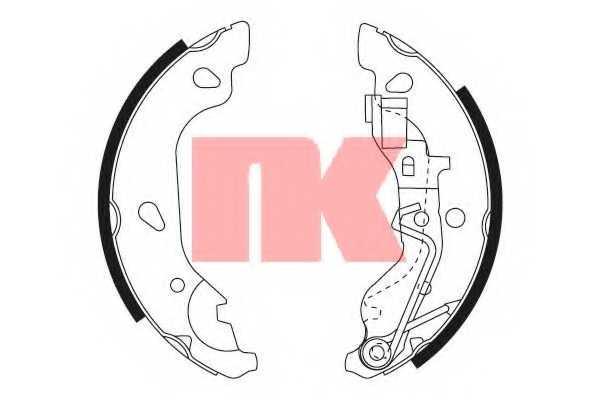 Комплект тормозных колодок NK 2723669 - изображение