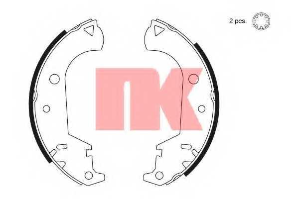 Комплект тормозных колодок для FIAT DOBLO(119,223), STRADA(278#,578#) <b>NK 2723677</b> - изображение