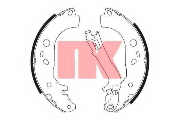 Комплект тормозных колодок для FIAT DOBLO(119,152,223,263,263#), IDEA(350#) / LANCIA MUSA(350) / OPEL COMBO(X12) <b>NK 2723725</b> - изображение
