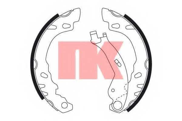 Комплект тормозных колодок NK 2723727 - изображение