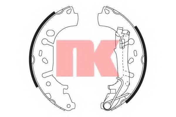 Комплект тормозных колодок NK 2723731 - изображение
