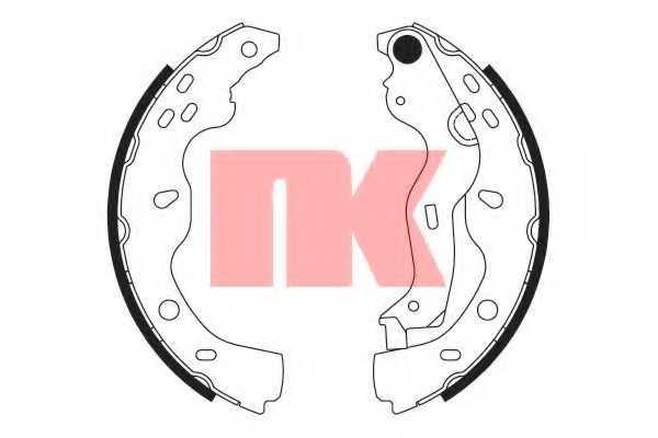 Комплект тормозных колодок NK 2723759 - изображение