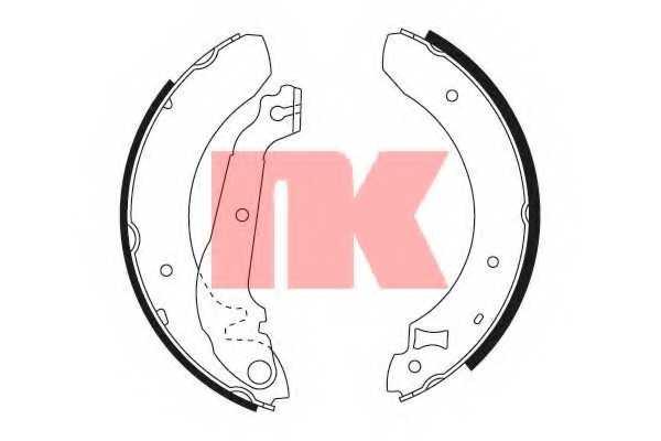 Комплект тормозных колодок для FORD SIERRA(BNC,BNG,GB4,GBC,GBG) <b>NK 2725376</b> - изображение