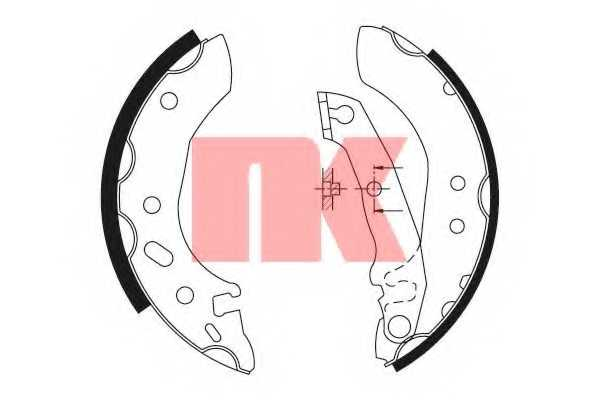 Комплект тормозных колодок NK 2725535 - изображение