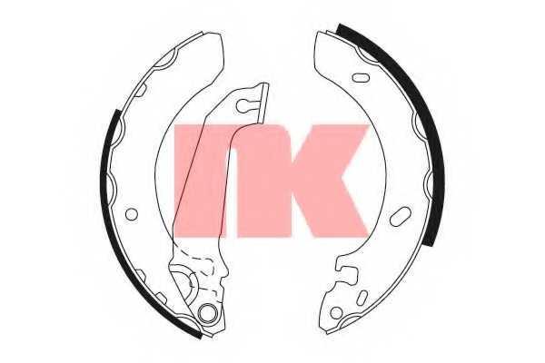 Комплект тормозных колодок NK 2725536 - изображение