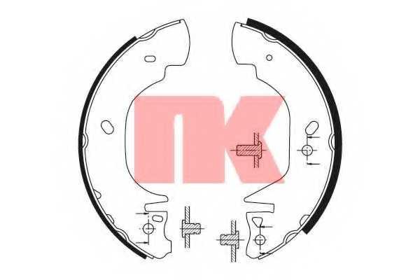 Комплект тормозных колодок для FORD TRANSIT(E# #) <b>NK 2725570</b> - изображение