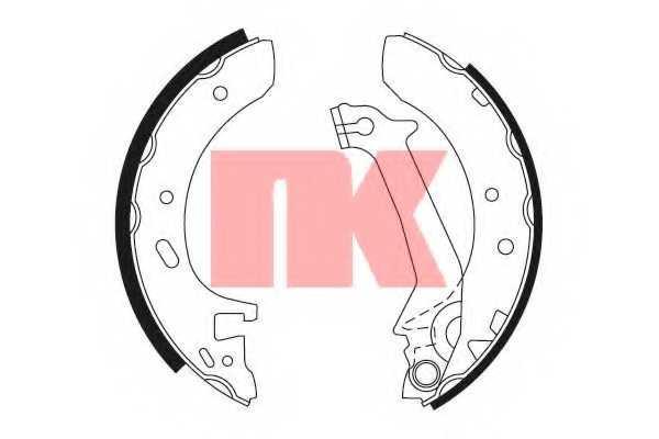 Комплект тормозных колодок NK 2725574 - изображение