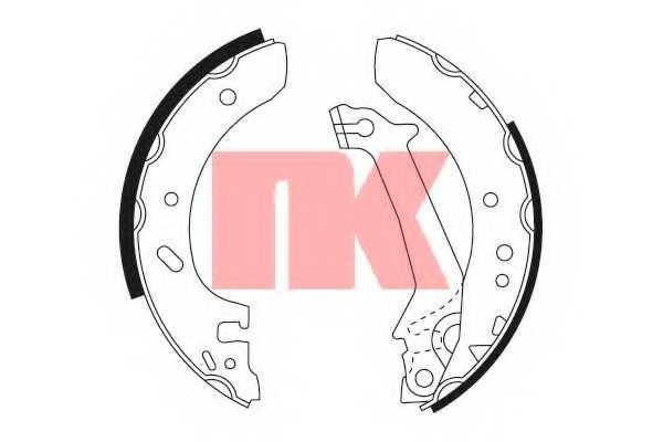 Комплект тормозных колодок NK 2725587 - изображение