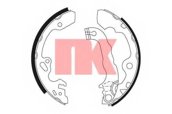 Комплект тормозных колодок NK 2725632 - изображение