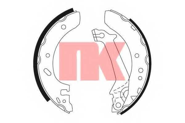 Комплект тормозных колодок для FORD ESCORT(AAL,ABL,AFL,ANL,GAL), FIESTA(J3#,J5#,JV#) <b>NK 2725643</b> - изображение