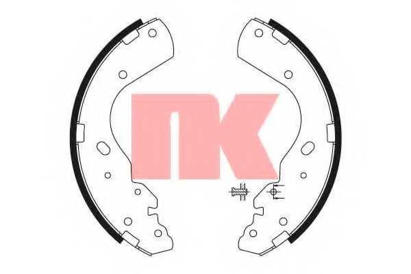 Комплект тормозных колодок NK 2725665 - изображение