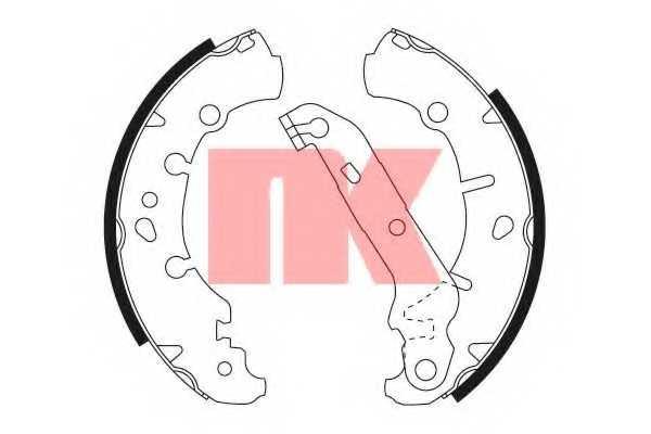 Комплект тормозных колодок NK 2725673 - изображение