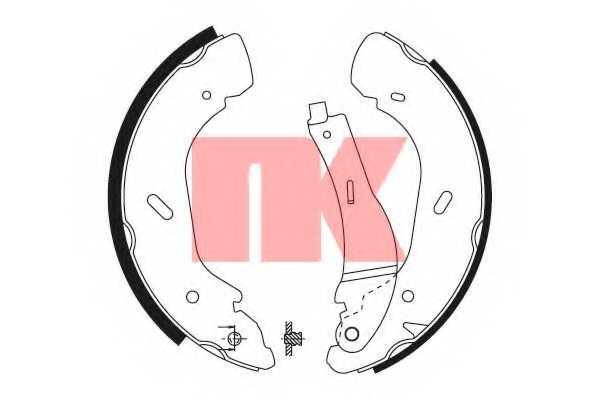 Комплект тормозных колодок NK 2725675 - изображение