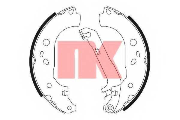 Комплект тормозных колодок NK 2725728 - изображение
