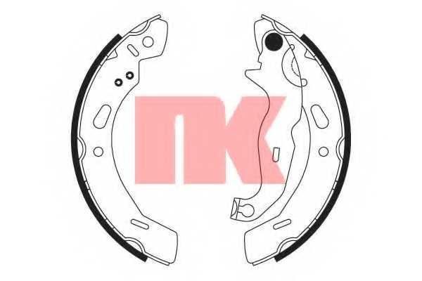 Комплект тормозных колодок NK 2725762 - изображение