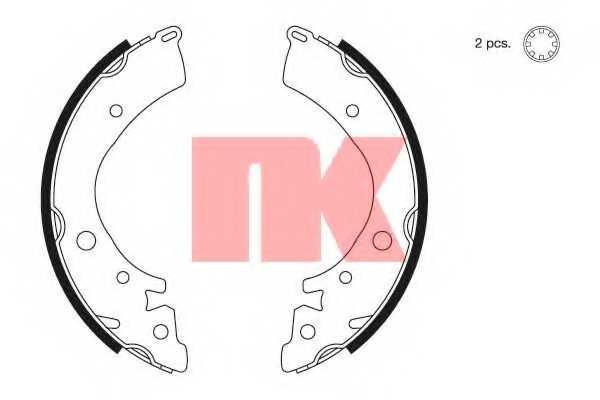 Комплект тормозных колодок NK 2726402 - изображение