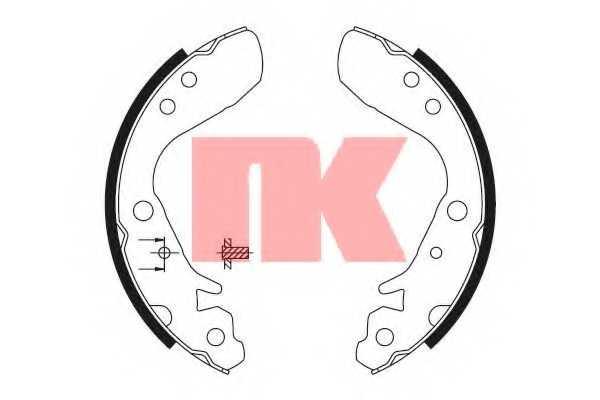Комплект тормозных колодок для HONDA CITY, JAZZ(GD) <b>NK 2726718</b> - изображение