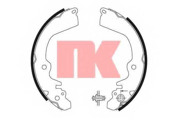 Комплект тормозных колодок NK 2730568 - изображение