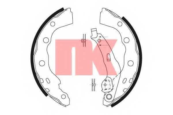 Комплект тормозных колодок NK 2730628 - изображение
