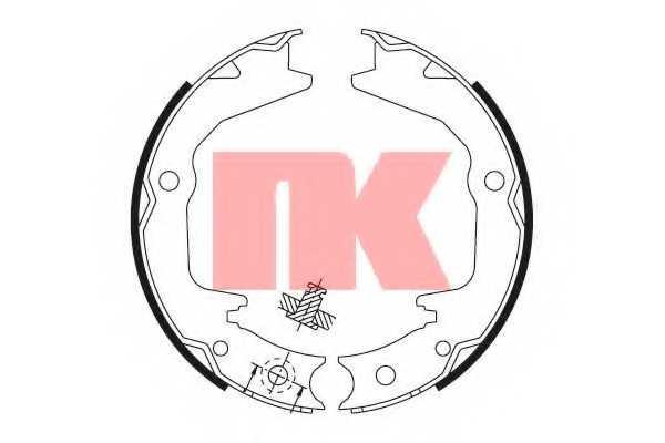 Комплект колодок стояночной тормозной системы NK 2730674 - изображение
