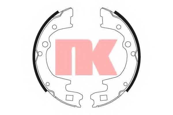 Комплект тормозных колодок NK 2732604 - изображение