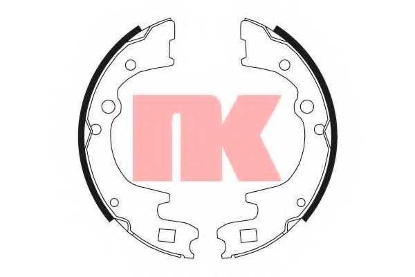 Комплект тормозных колодок для HYUNDAI H100 / KIA BONGO, K2500(SD), K2700(K62W,SD), K2900 / MAZDA E-SERIE(SD1,SL,SR1,SR2) <b>NK 2732604</b> - изображение