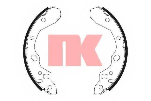 Комплект тормозных колодок NK 2732611 - изображение