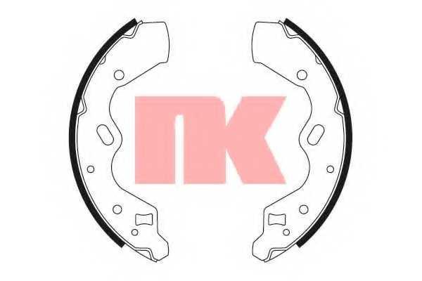 Комплект тормозных колодок NK 2732615 - изображение