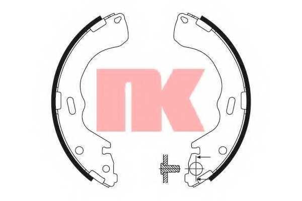 Комплект тормозных колодок NK 2732640 - изображение