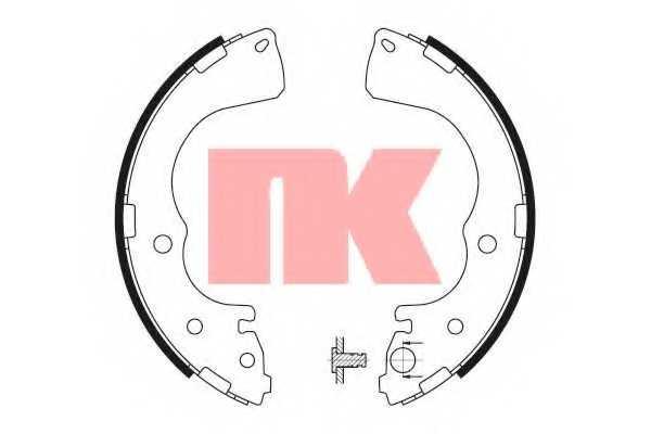 Комплект тормозных колодок NK 2732661 - изображение