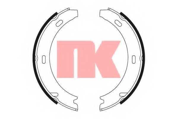 Комплект колодок стояночной тормозной системы NK 2733412 - изображение