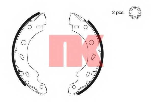 Комплект тормозных колодок <b>NK 2733671</b> - изображение