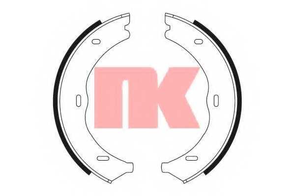 Комплект колодок стояночной тормозной системы NK 2733722 - изображение