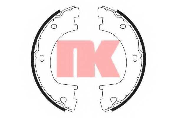 Комплект колодок стояночной тормозной системы NK 2733773 - изображение
