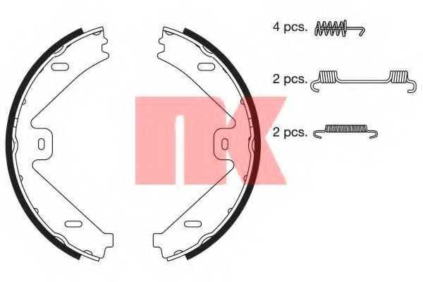Комплект колодок стояночной тормозной системы NK 2733802 - изображение