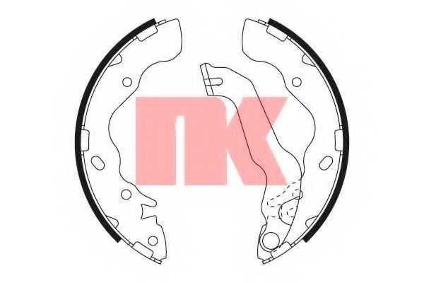 Комплект тормозных колодок NK 2734704 - изображение