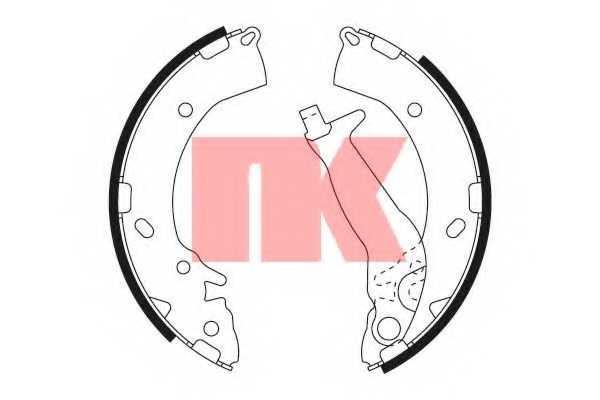 Комплект тормозных колодок для HYUNDAI GETZ(TB) <b>NK 2734716</b> - изображение