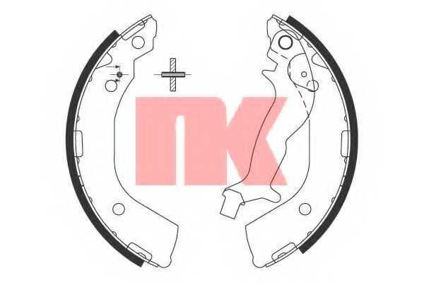 Комплект тормозных колодок для HYUNDAI GETZ(TB) <b>NK 2734737</b> - изображение