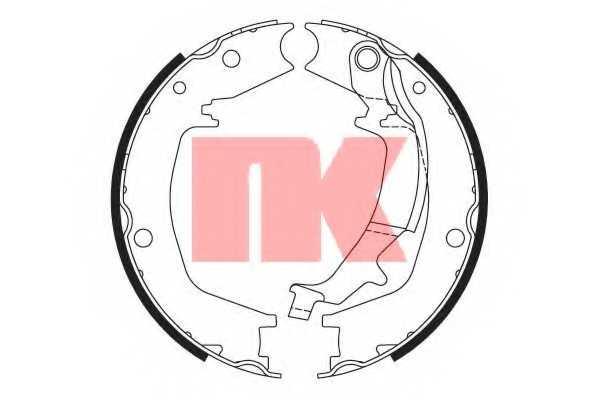 Комплект колодок стояночной тормозной системы NK 2734746 - изображение