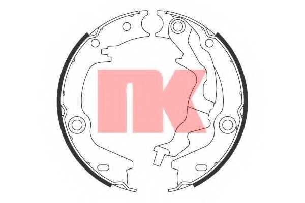 Комплект колодок стояночной тормозной системы NK 2734784 - изображение