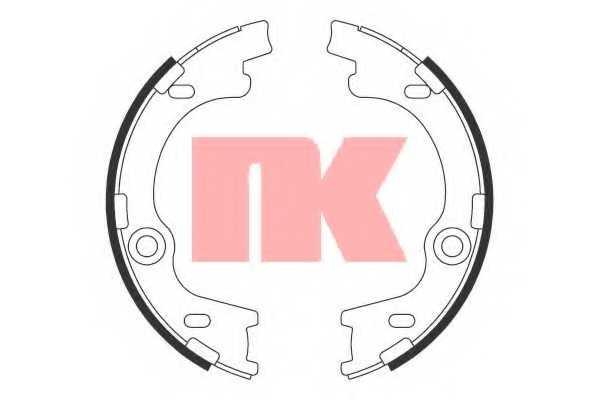 Комплект колодок стояночной тормозной системы NK 2734790 - изображение