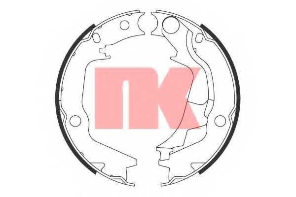 Комплект колодок стояночной тормозной системы NK 2734793 - изображение