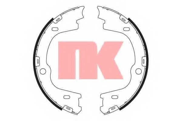 Комплект колодок стояночной тормозной системы NK 2734814 - изображение