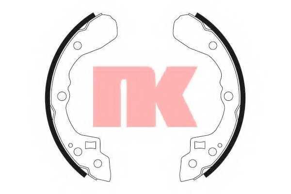 Комплект тормозных колодок для KIA CERATO, SEPHIA(FA,FB), SHUMA(FB) <b>NK 2735653</b> - изображение