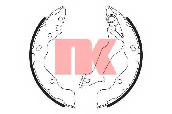 Комплект тормозных колодок для KIA SOUL(AM) <b>NK 2735820</b> - изображение
