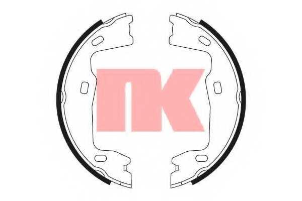 Комплект колодок стояночной тормозной системы NK 2736347 - изображение