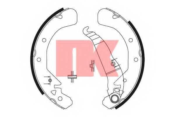 Комплект тормозных колодок NK 2736589 - изображение