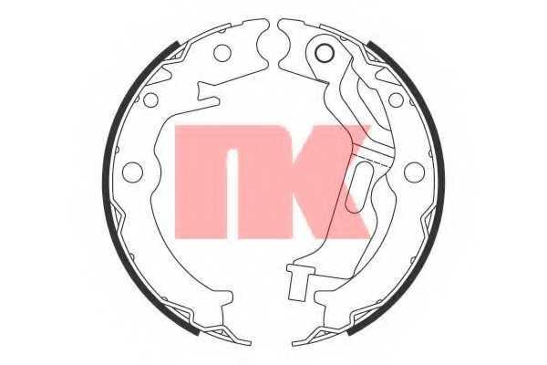 Комплект колодок стояночной тормозной системы NK 2736785 - изображение
